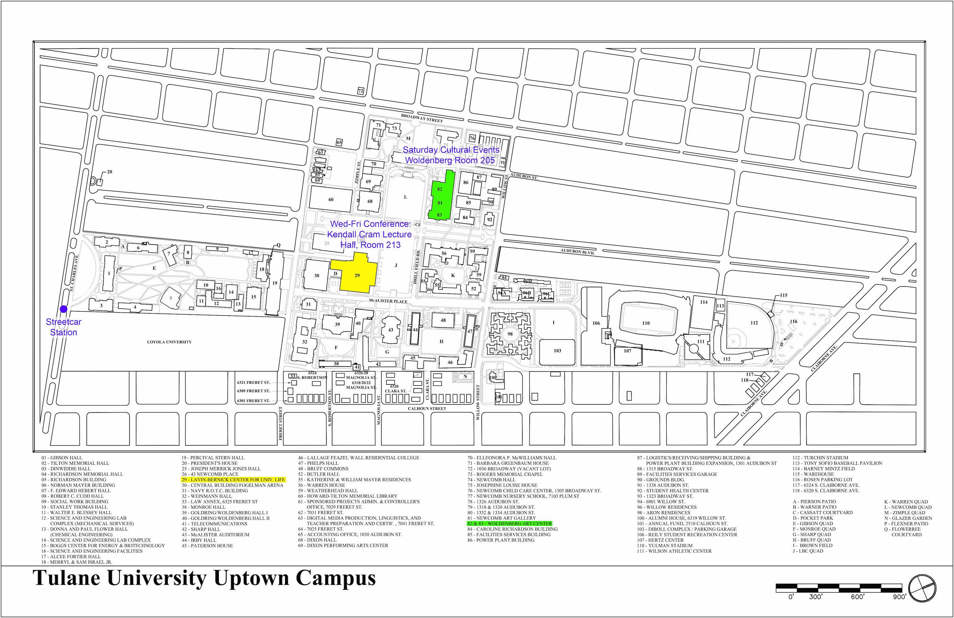 fel  conference program -  campus map